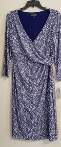 Ralph Lauren Floral Print Knit Dress - Size 10